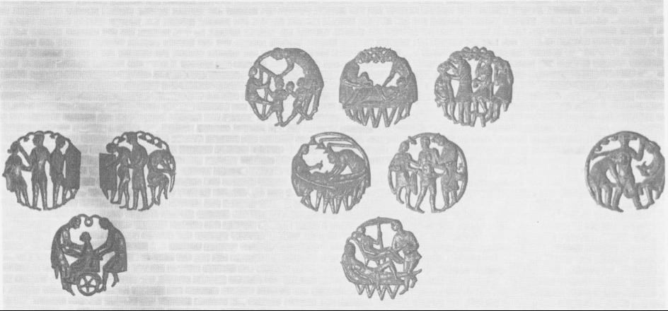 De tien ajourreliëfs die Niel Steenbergen maakte voor het huidige Amphia Ziekenhuis.
